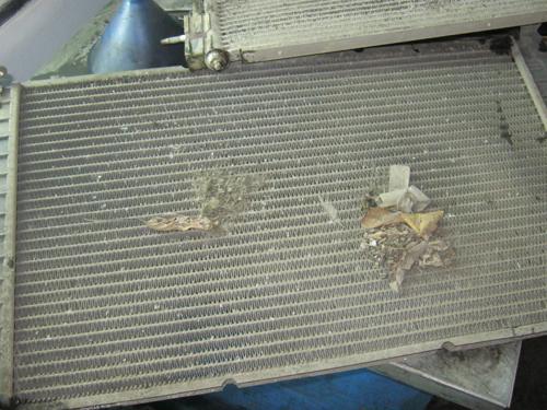 Грязь между радиаторами